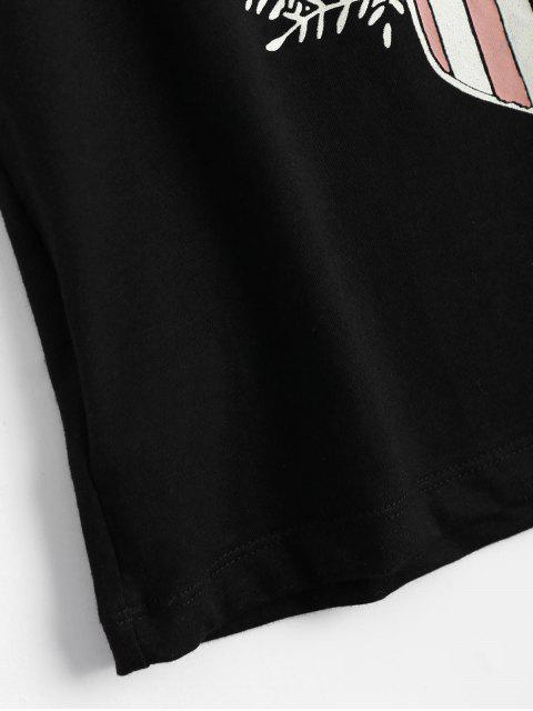 T-shirt manches sans manches à lacets - Noir M Mobile