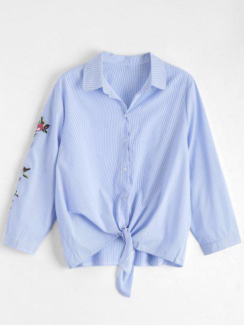 Chemise brodée florale Stripes Tie Bowie - Rayure S Mobile
