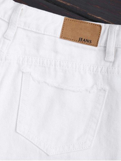 Cuprifles Tassels Beaded Shorts denim brodé - Blanc M Mobile