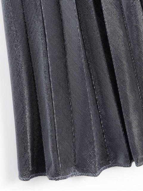 Jupe plissée à cristaux liquides brillant en métal - Argent M Mobile