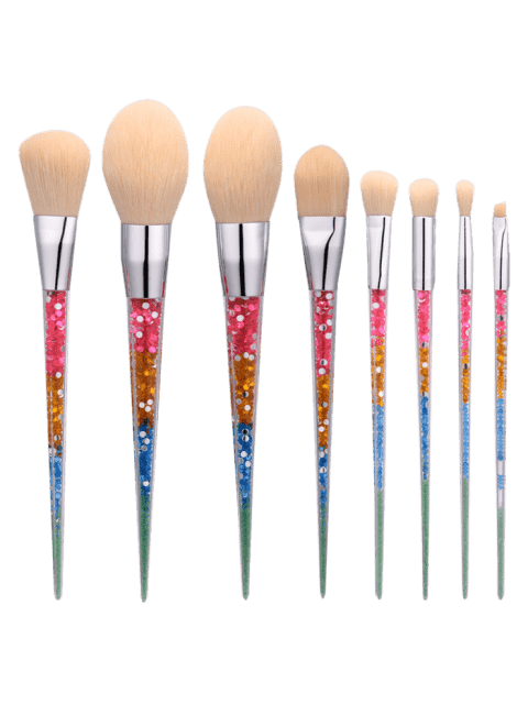 fashion 8Pcs Nylon Tapered Shape Makeup Brushes Set - COLORMIX  Mobile