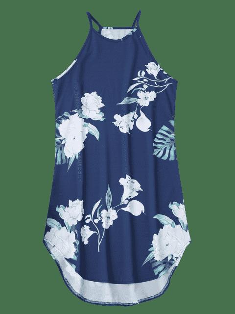 shop Floral Printed Cami Dress - CADETBLUE XL Mobile