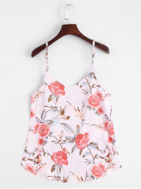unique Floral Print Cami Top - FLORAL XL Mobile