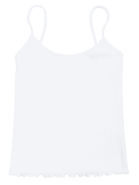 women's Cut Out Back Ribbed Tank Top - WHITE ONE SIZE Mobile