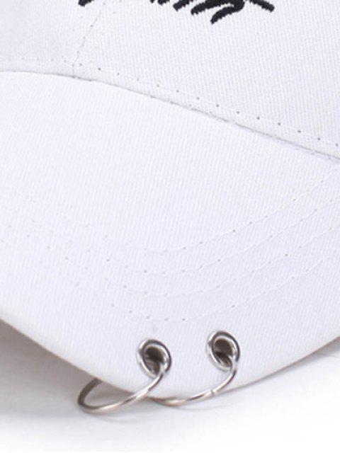 Double Metal Circle Letters Embellished Baseball Hat - ROSE PÂLE  Mobile