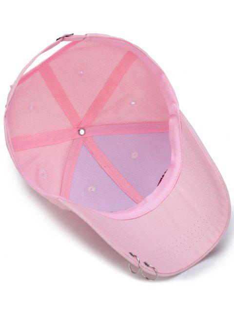 outfit Double Circles Letters Embroidery Baseball Hat - PINK  Mobile