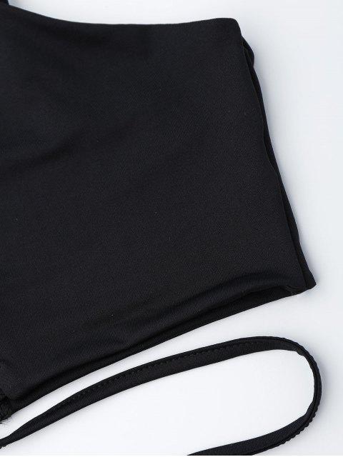 new Zippered Criss Cross Crop Cami Top - BLACK S Mobile