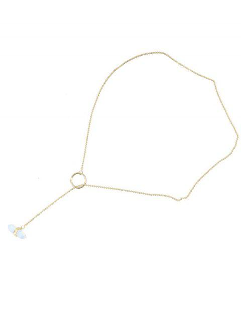 new Bullet Shape Natural Stone Necklace - GOLDEN  Mobile