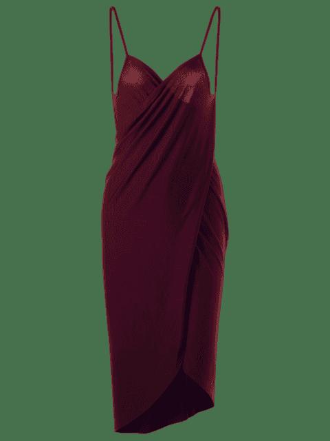 Robe enrubanneuse grand format - Rouge vineux  XL Mobile