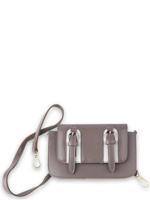 best Twin Buckles Mini Cross Body Bag - PINKISH PURPLE  Mobile