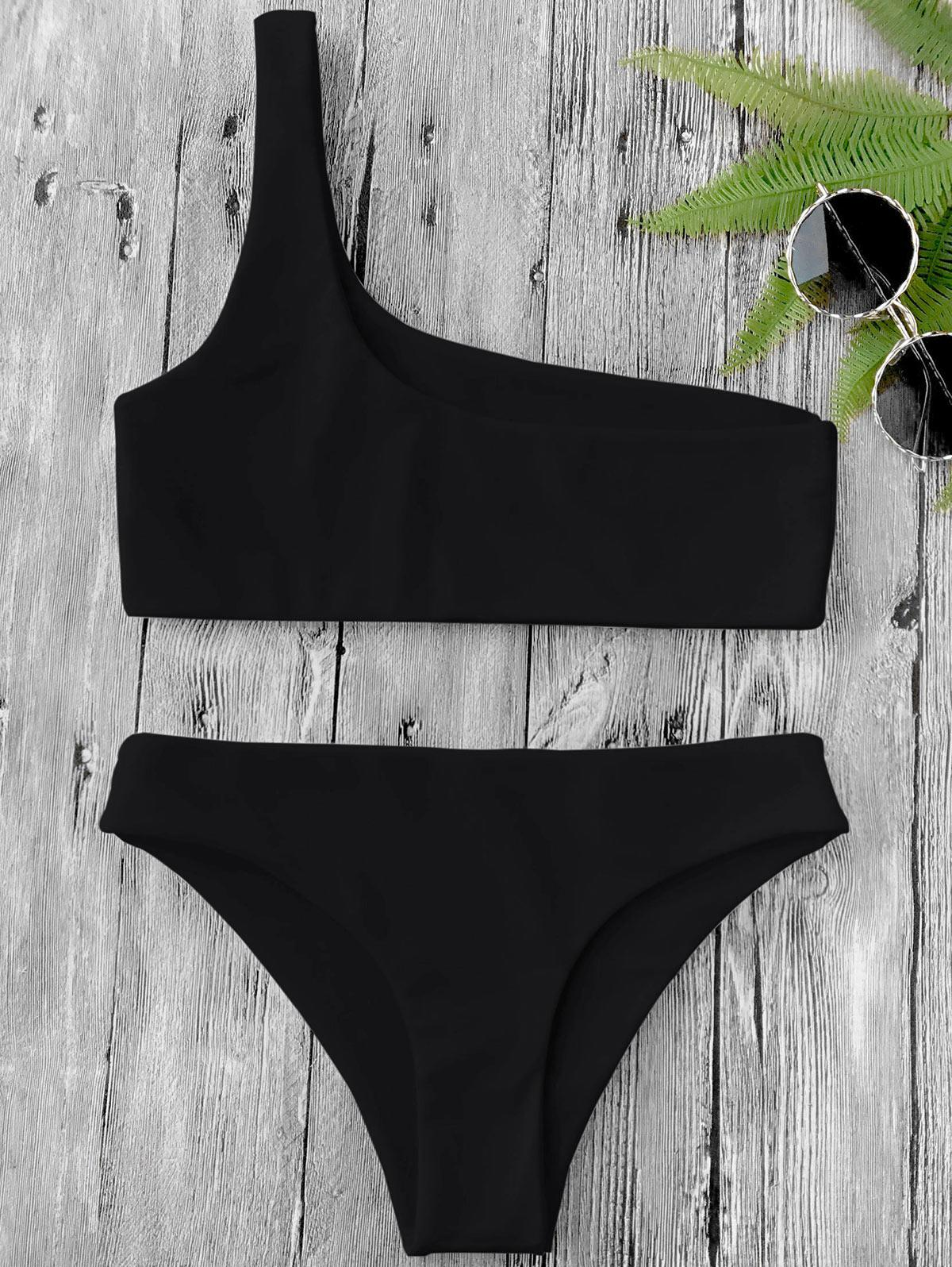One Shoulder Bikini Set