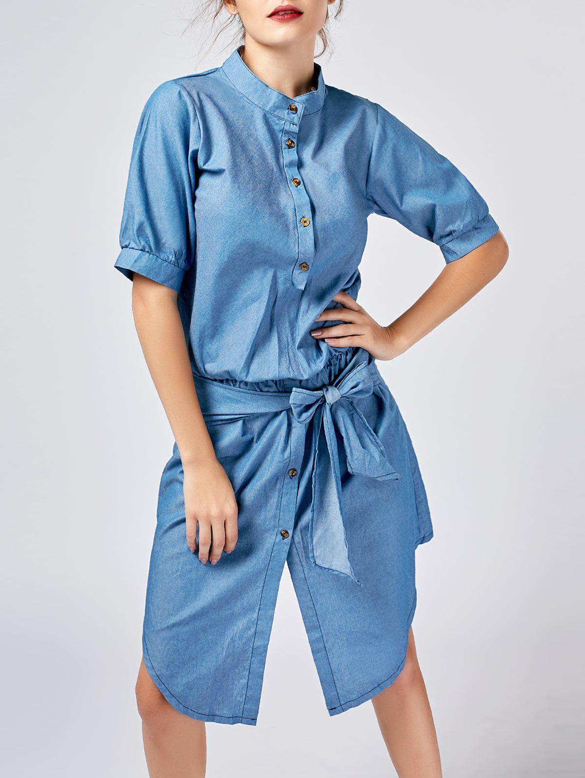 Robe asymétrique pour chemises à boutons