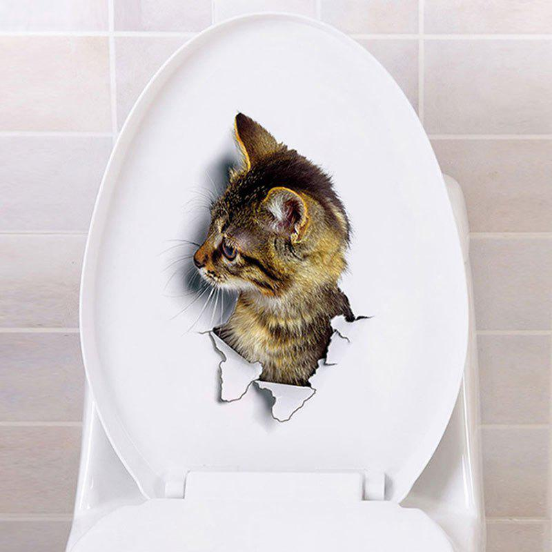 Home Decoration 3D Hole View Cat Wall Stickers 217705801