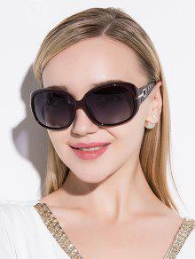 Rhinestone Decoration UV Protection Sunglasses - Wine Red