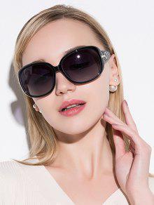 نظارات شمسية تصميم مكافحة الأشعة فوق البنفسجية مطرز بحجر الراين - أسود أرجواني