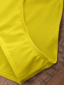 479f176c11a 14% OFF] 2019 Off The Shoulder Flounced One-Piece Swimwear In YELLOW ...