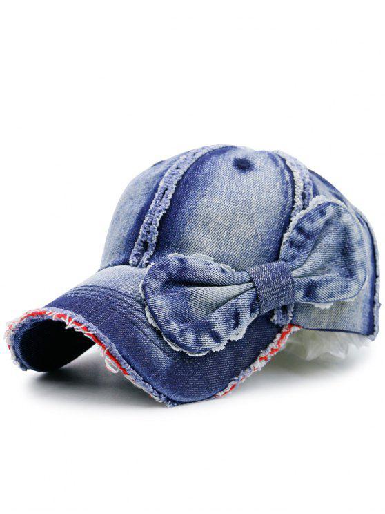 الاصطناعي الرملي الدنيم بونوت منمق قبعة بيسبول - ازرق غامق