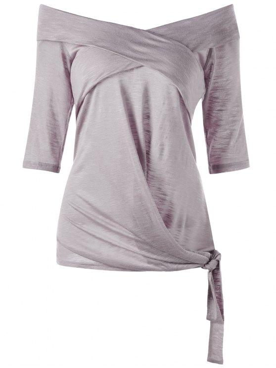 Taille plus sur le dessus latéral de l'épaule - Gris Violet 2XL