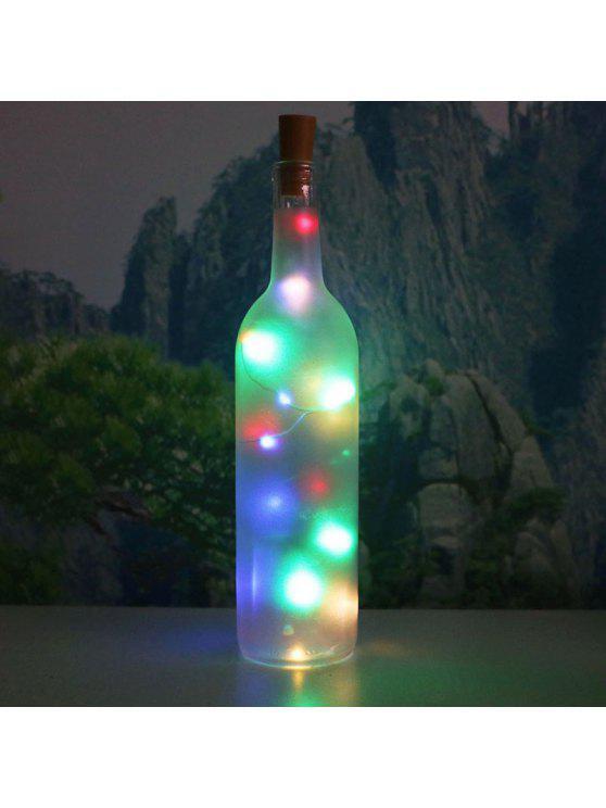 الملونة الزخرفية 2 قطع زجاجة سدادة أدى سلسلة ضوء - ملون