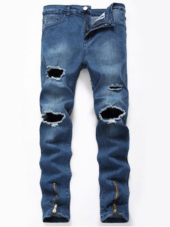 الكاحل البريدي البريدي جينز نحيل - أزرق 32