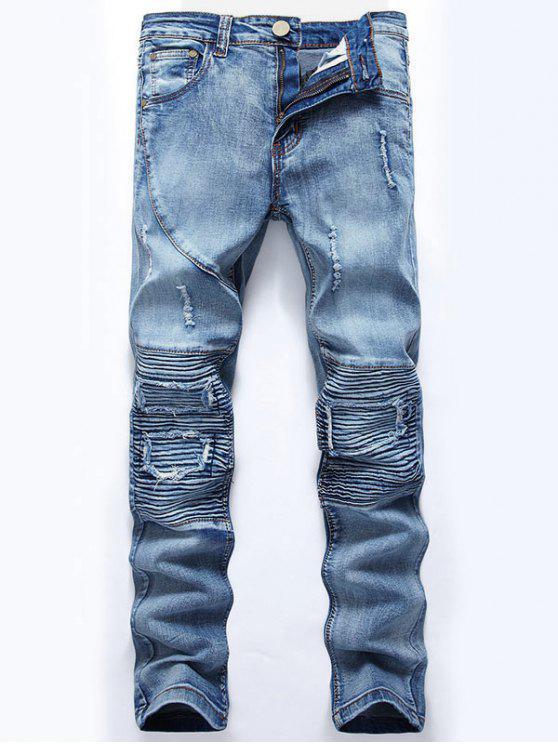 جينز سليم سليم صالح السائق - أزرق فاتح 32