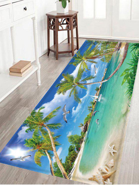 سكيدبروف الكريستال المخملية نسيج البحر مشهد البساط - أزرق W16 بوصة * L47 بوصة