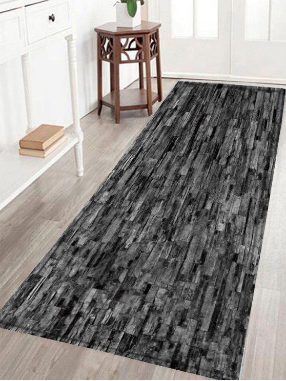 الطوب جدار طباعة الكريستال المخملية النسيج حمام البساط - أسود W16 بوصة * L47 بوصة