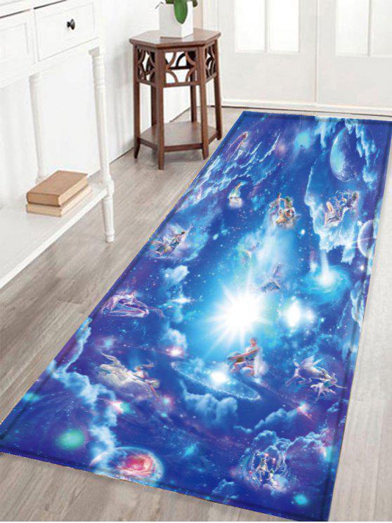 سكيدبروف الكريستال المخملية النسيج السماوية حمام البساط - أزرق W16 بوصة * L47 بوصة
