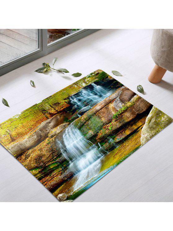 الشلال.، ديكور، إقتدى، امتصاص الماء، دائرة، بطانية - Colormix W20 بوصة * L31.5 بوصة