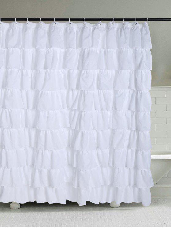 58% RABATT] 2019 Ruffle Layers Design Polyester Stoff Duschvorhang ...
