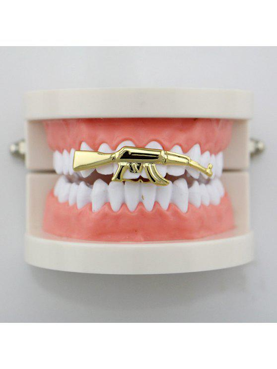 Forma Hip Hop Gun Top Denti Grillz - Oro