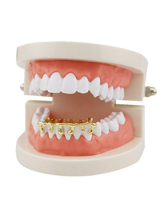 hot Lava Shaped Hip Hop Bottom Teeth Grillz - GOLDEN