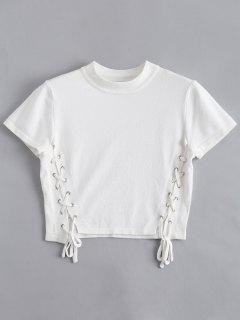 Top à Lacets Tressé - Blanc M