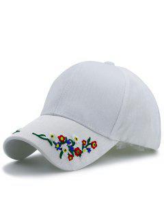 Sombrero De Béisbol Del Bordado De Las Letras De Pinstriped - Blanco