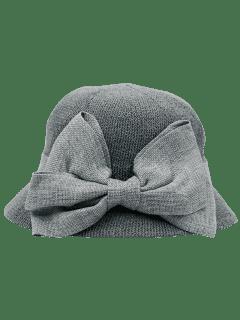 Sombrero Largo Adornado Del Bowknot De La Cinta - Gris
