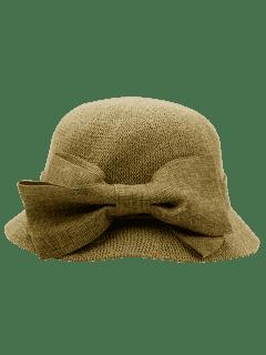 Chapeau De Soleil Orné D'un Large Nœud  - Terreux