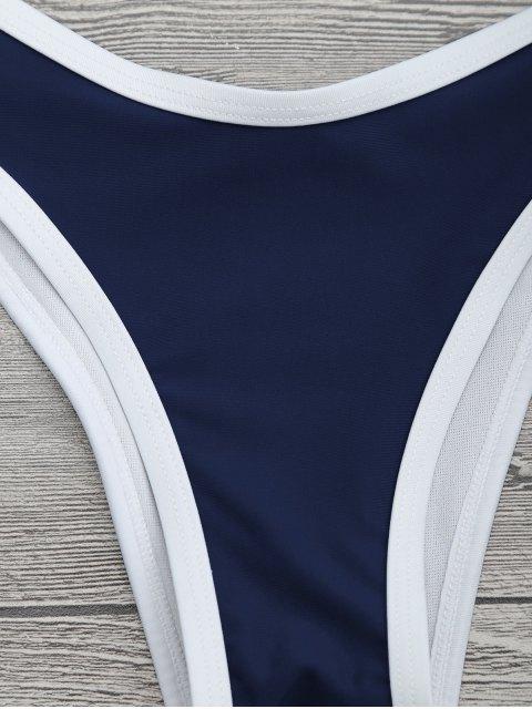 Ensemble de bikini à tuyaux contrastés à coupe rapide - Marine S Mobile