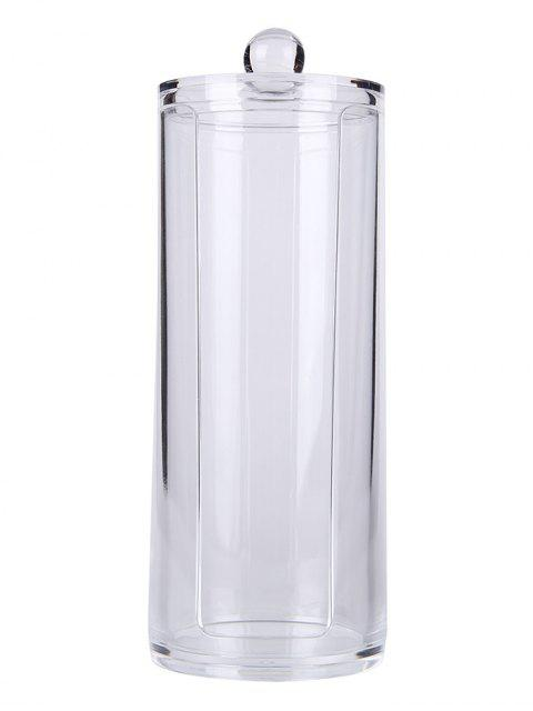 chic Cylinder Shape Cosmetic Organizer Makeup Storage Bucket - TRANSPARENT  Mobile