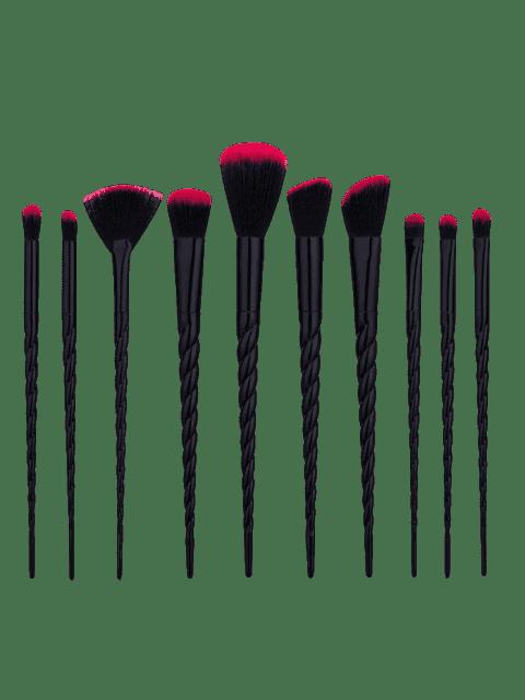 unique 10Pcs Unicorn Tapered Shape Makeup Brushes Set - BLACK  Mobile