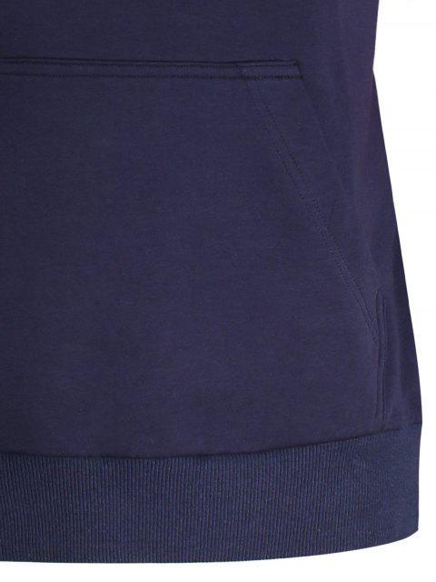 Sweat à rayures à rayures à rayures Kangaroo - Bleu Violet M Mobile
