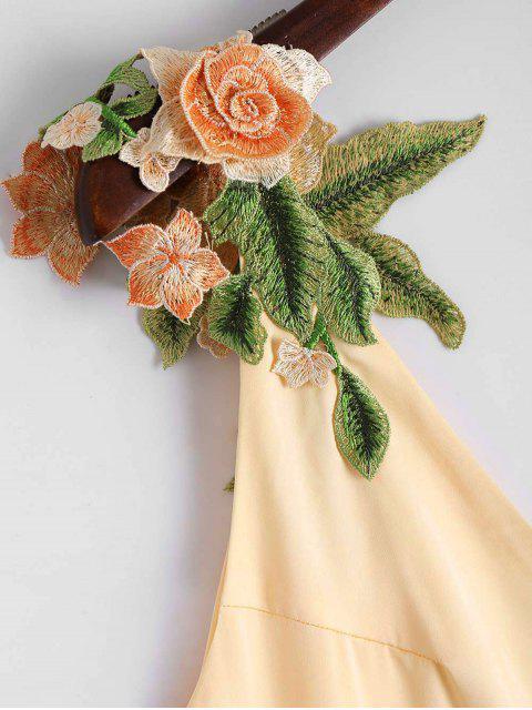 Robe Droite Patch à Motifs Floraux - Champagne L Mobile