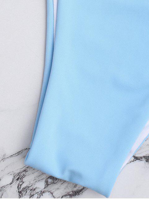 lady Padded Multiway Bandeau Bikini Set - LIGHT BLUE M Mobile
