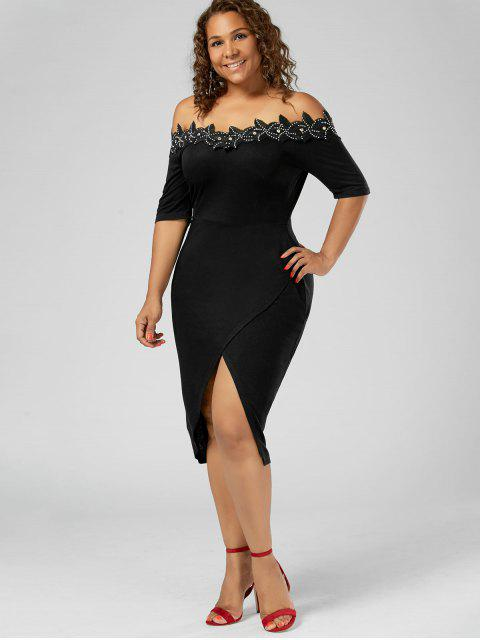 Robe à cravate ajustable en taille Plus - Noir XL Mobile