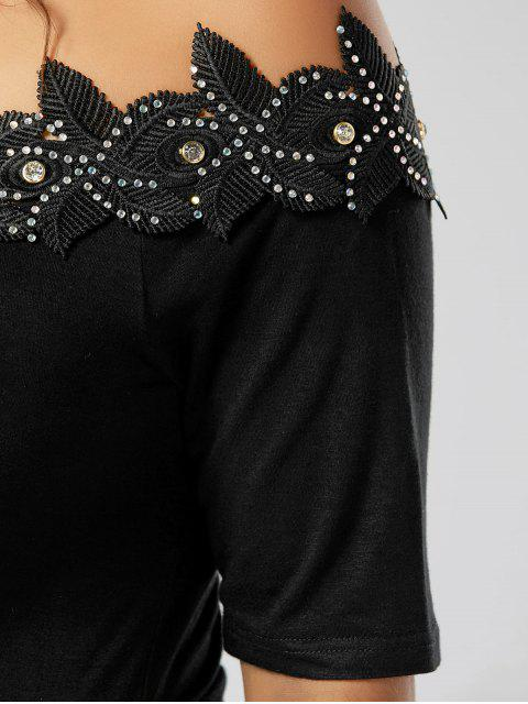 Robe à cravate ajustable en taille Plus - Noir 2XL Mobile