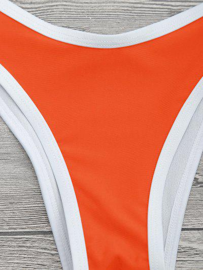 High Cut Contrast Piping Bikini Set4