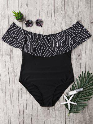 Plus Size Ruffles Off The Shoulder Swimsuit