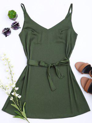 Satin Cami Slip Dress With Choker Strap