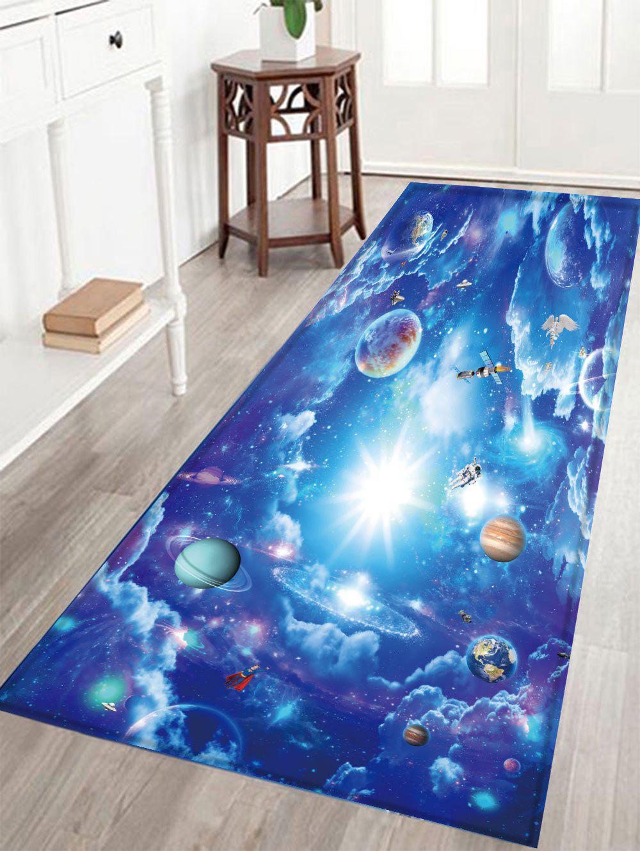 Tapis de bain en tissu de velours en cristal Galaxy Print