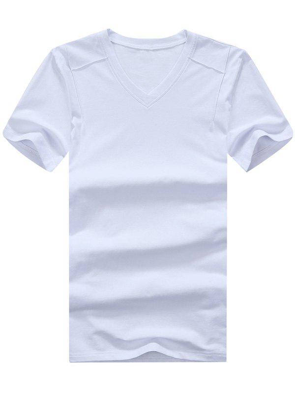 T-shirt à manches courtes à encolure en V