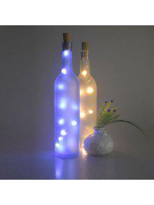 الزفاف الديكور 2 قطع زجاجة سدادة أدى سلسلة ضوء - أزرق